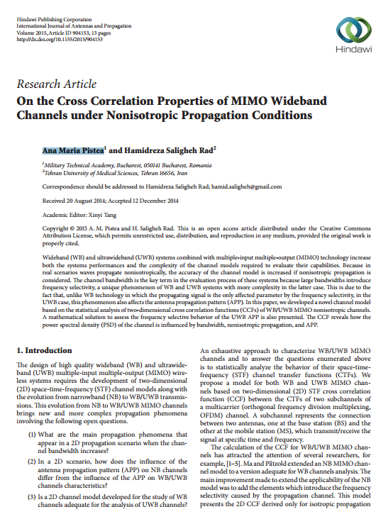 On the Cross-Correlation Properties of MIMO Wideband Channels under Non-Isotropic Propagation Conditions